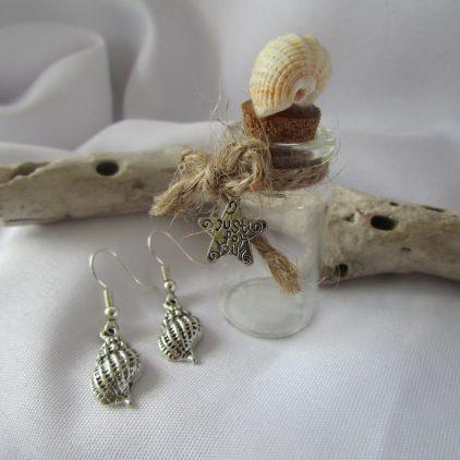 Earrings in a Keepsake Bottle